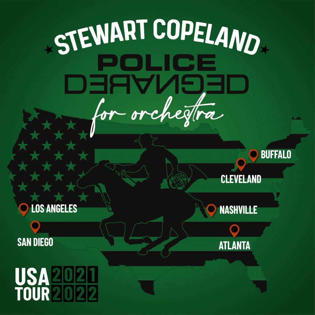 Police Deranged Tour Poster